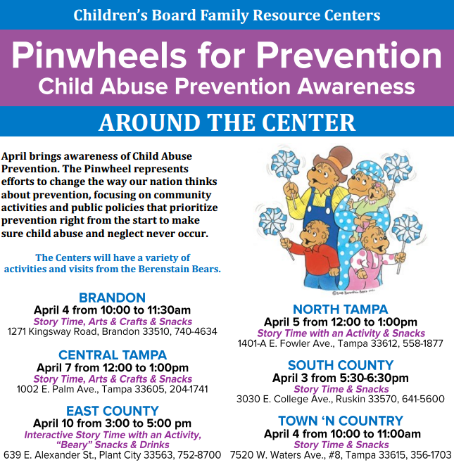 pinwheels at centers